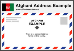 Afghani Address Example
