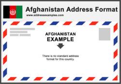 Afghanistan Address Format