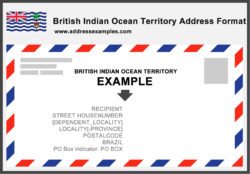 British Indian Ocean Territory Address Brazil Format