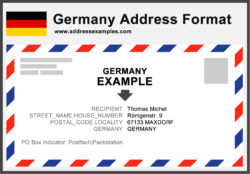 How to write german postal addresses
