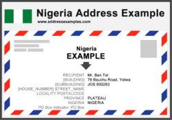 Nigeria Address Example