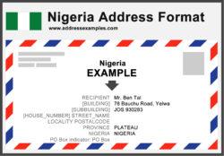 Nigeria Address Format