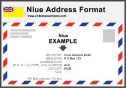 Niue Address Format