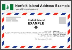 Norfolk Island Address Example