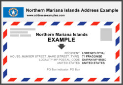 Northern Mariana Islands Address Example