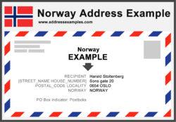 Norway Address Example