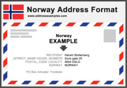 Norway Address Format
