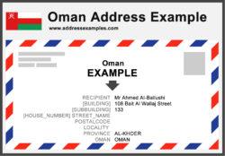 Oman Address Example