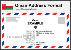 Oman Address Format