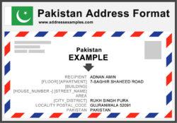Pakistan Address Format
