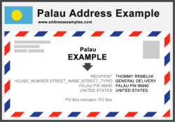 Palau Address Example