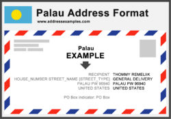 Palau Address Format