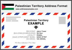 Palestinian Territory Address Format