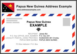 Papua New Guinea Address Example