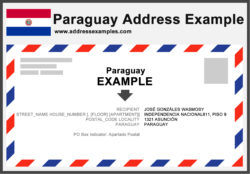Paraguay Address Example