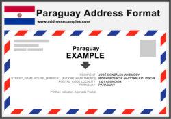 Paraguay Address Format
