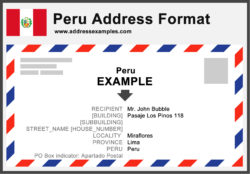 Peru Address Format