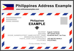 Philippines Address Example