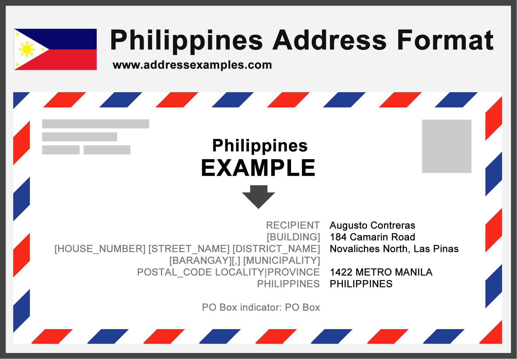 Philippines Address Format Addressexamples Com