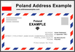Poland Address Example