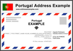 Portugal Address Example