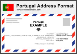 Portugal Address Format