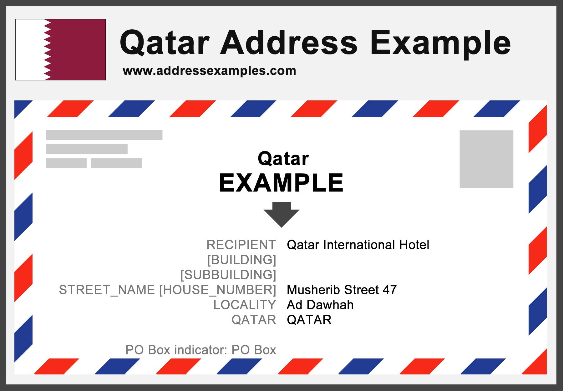 Qatar Address Example