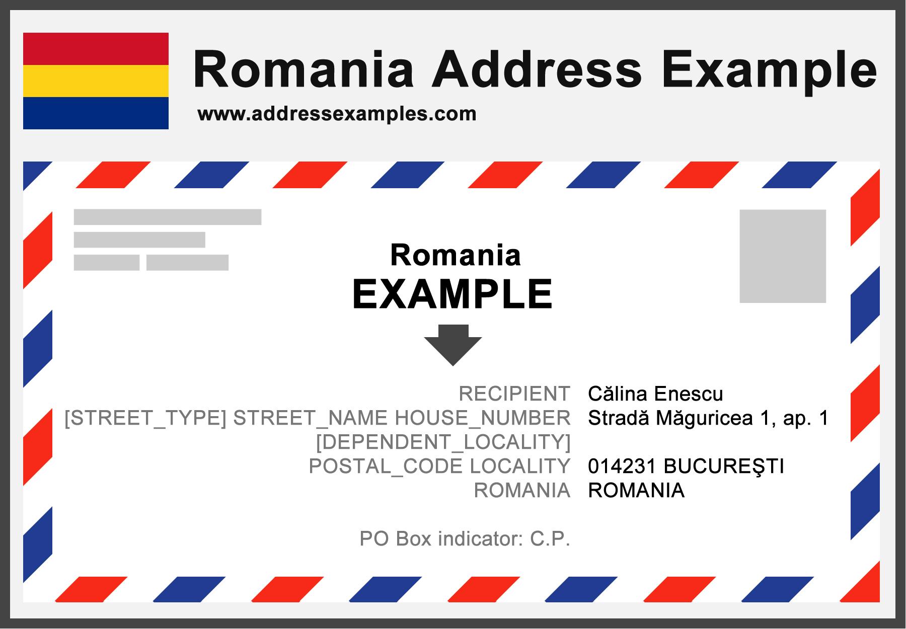 Romania Address Example