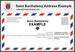 Saint Barthelemy Address Example