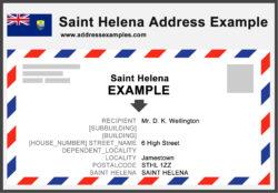 Saint Helena Address Example