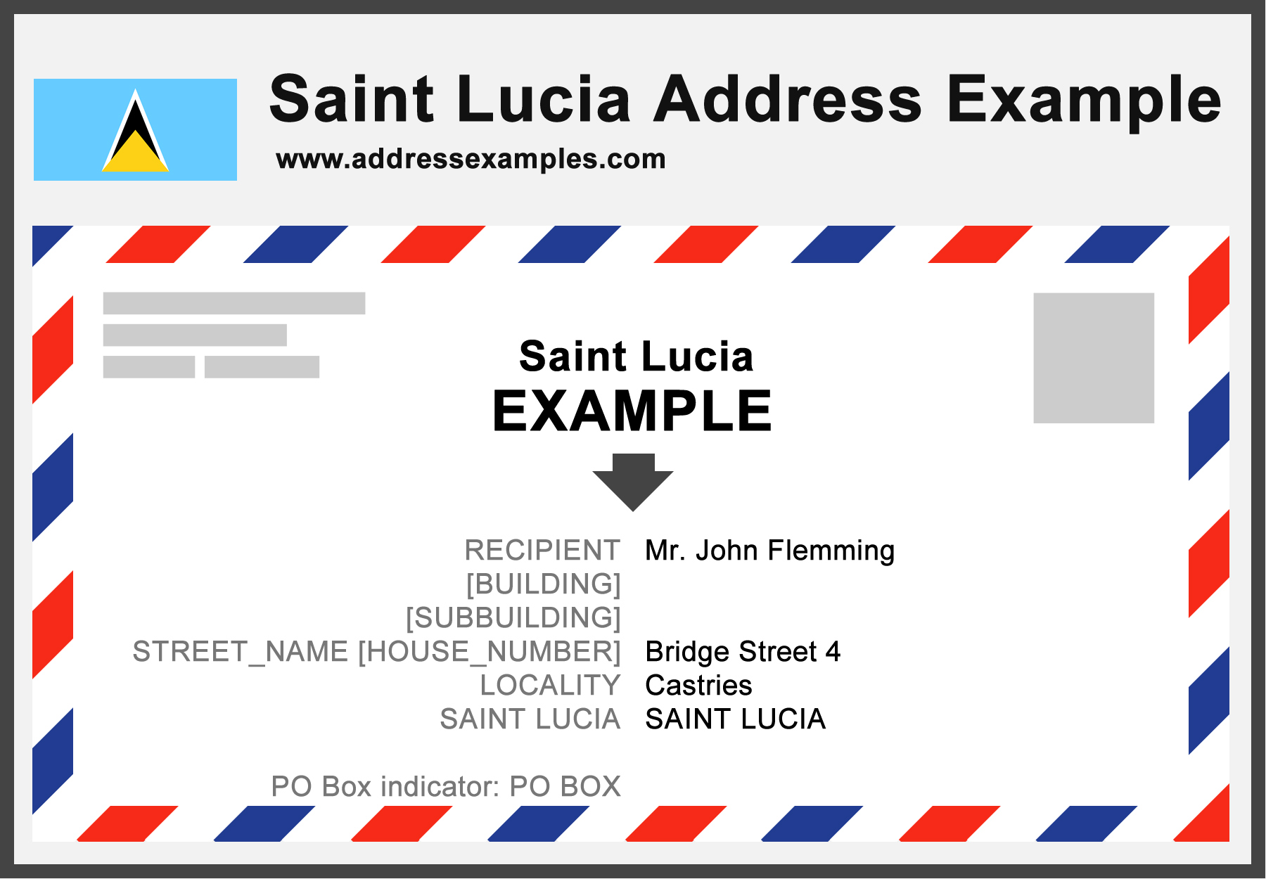 Saint Lucia Address Example