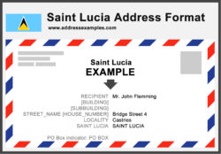 Saint Lucia Address Format