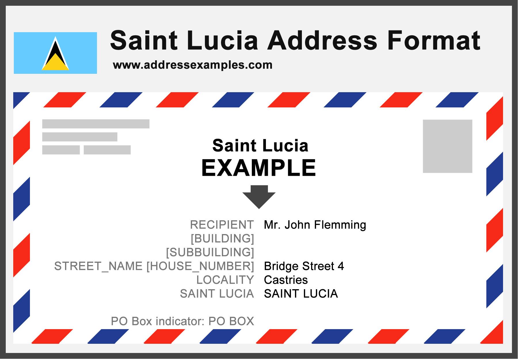 Saint Lucia Address Format