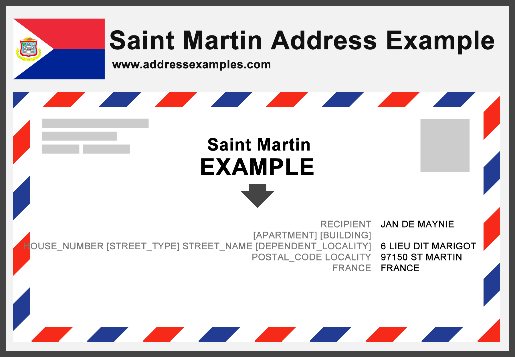 Saint Martin Address Example
