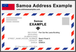 Samoa Address Example