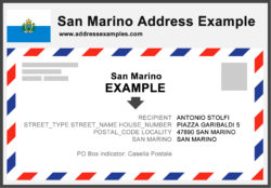 San Marino Address Example