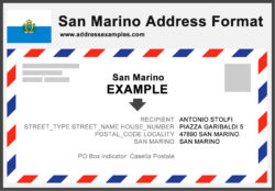 San Marino Address Format