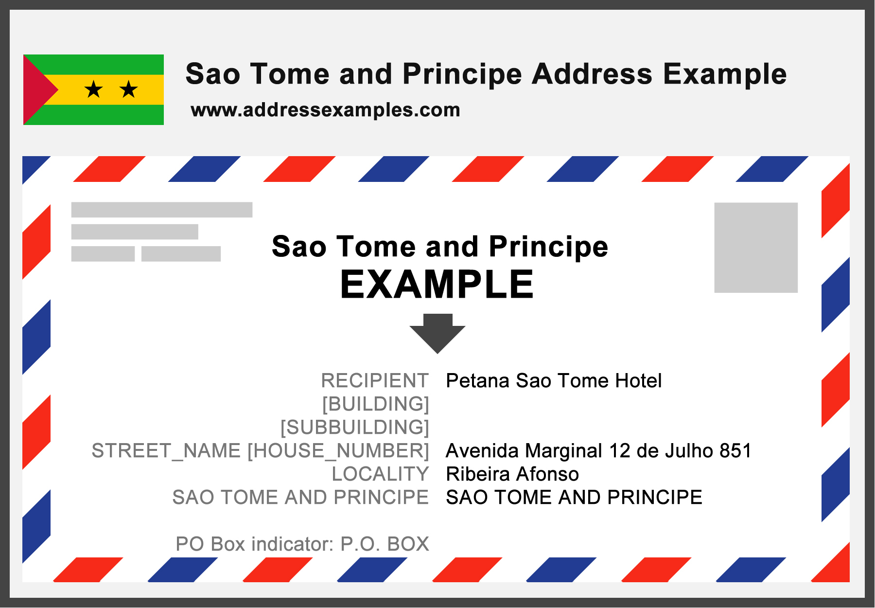 Sao Tome Principe Address Example