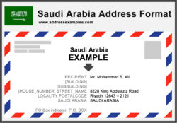 Saudi Arabia Address Format