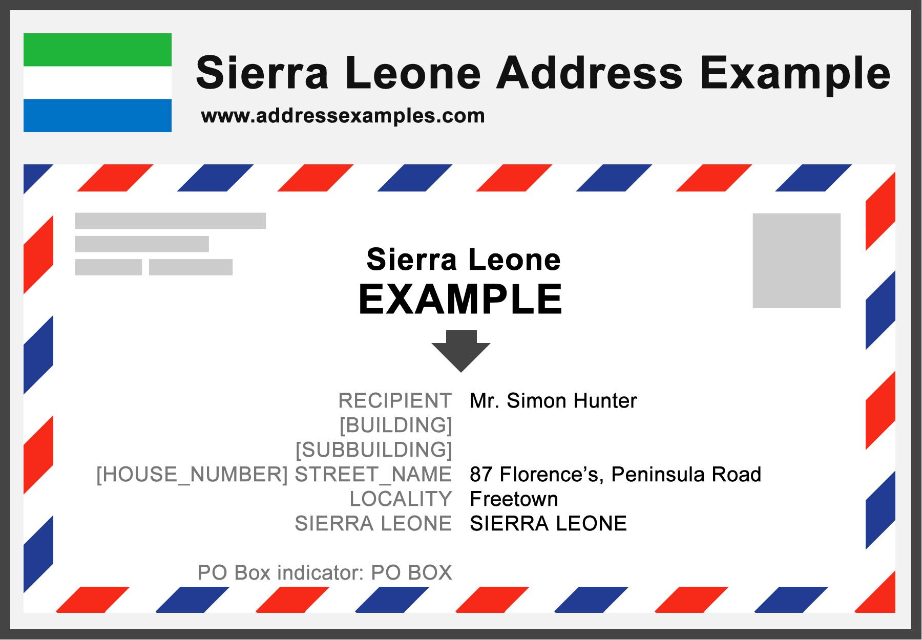 Sierra Leone Address Example
