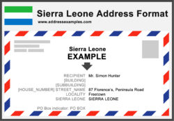 Sierra Leone Address Format