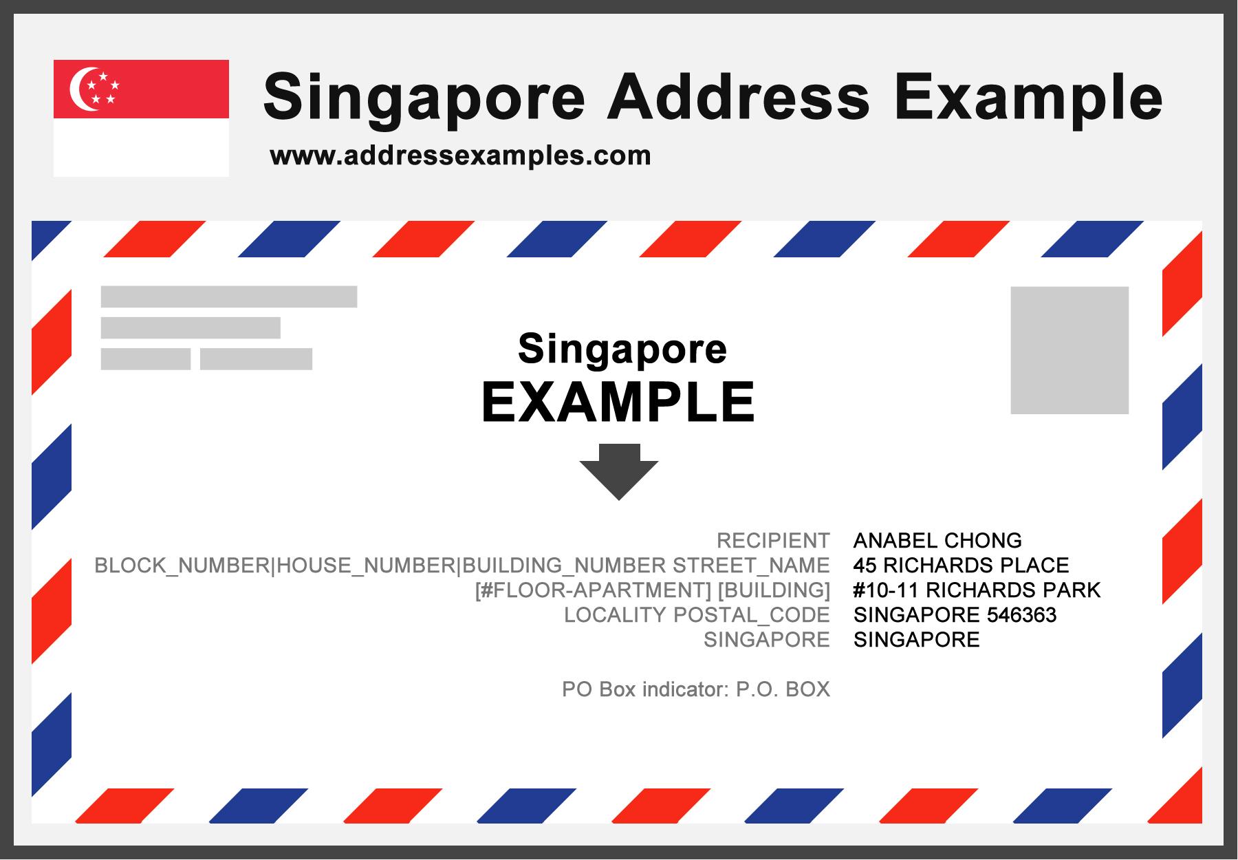 Singapore Address Example
