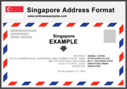 Singapore Address Format